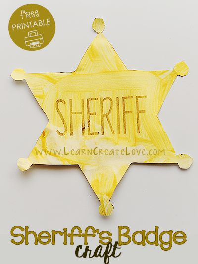 printable sheriff s badge craft learncreatelove com crafts