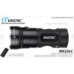 EagleTac MX25L4C Kit Model - 4800 lumens