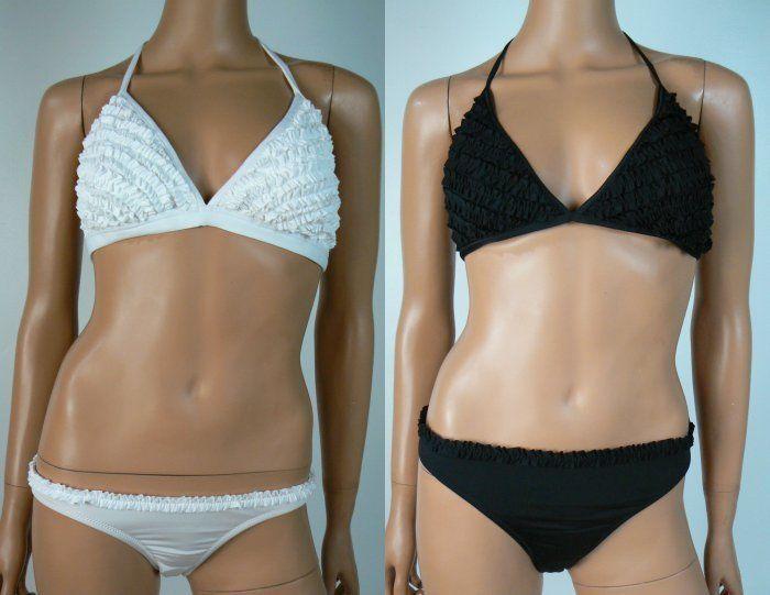Bcbg ruffle bikini