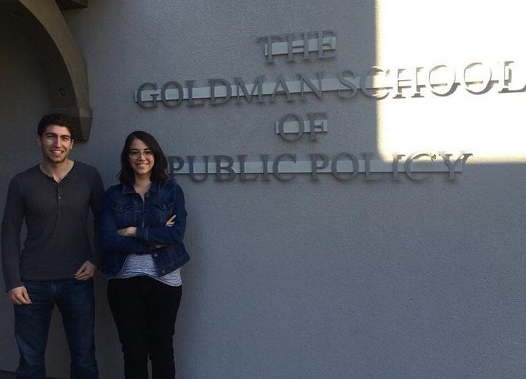 """Our final #FeatureFriday from UC Berkeley! Here are interns Alejandra and Max in front of UC Berkeley's Goldman School of Public Policy. They shared with us about their experience with VSFS:  Max: """"I'm doing my VSFS internship with USAID in the Office of Economic Policy. I've helped with research and data manipulation on working growth diagnostics cost-benefit analysis reviews of agricultural interventions and helped with implementing partner training material development. It was been a…"""