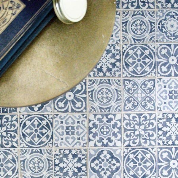 Somertile 13x13 Inch Faventia Azul Ceramic Floor And Wall Tile 10 Tiles 12 2 Sqft Case Faventia Azul Design In 2020 Ceramic Floor Wall Tiles Floor And Wall Tile