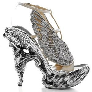 One of the most beautiful pair of Alexander McQueen shoes I've ever seen. Impeccable detail on the heel.