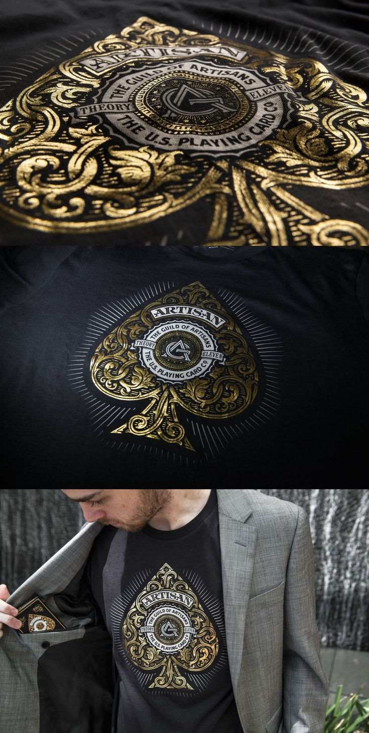 Looking Ace Black Artisan Shirt by Simon Frouws Design