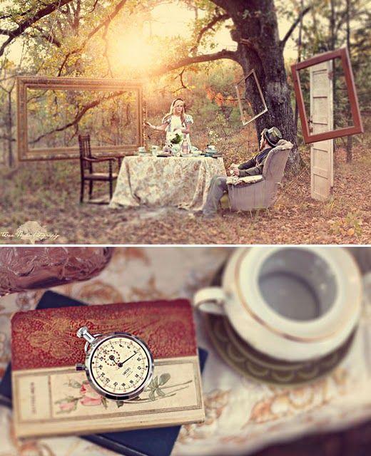 Alice and Wonderland themed photoshoot