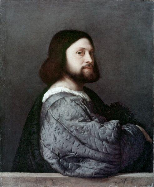 Ludovico Ariosto by  Tiziano Vecellio - National Gallery,London