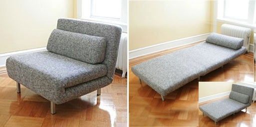 Square Sleeper Chair — FURNISHINGS -- Better Living Through Design