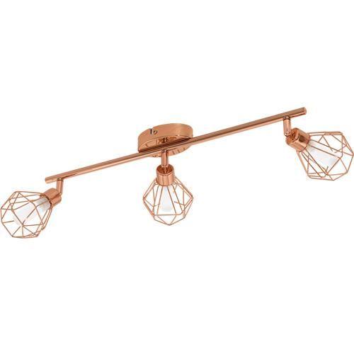 3 light led spotlight copper finish - Spotlight Kitchen Lights