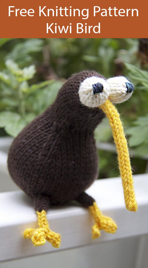 Free Knitting Pattern for Kiwi Bird of New Zealand ...