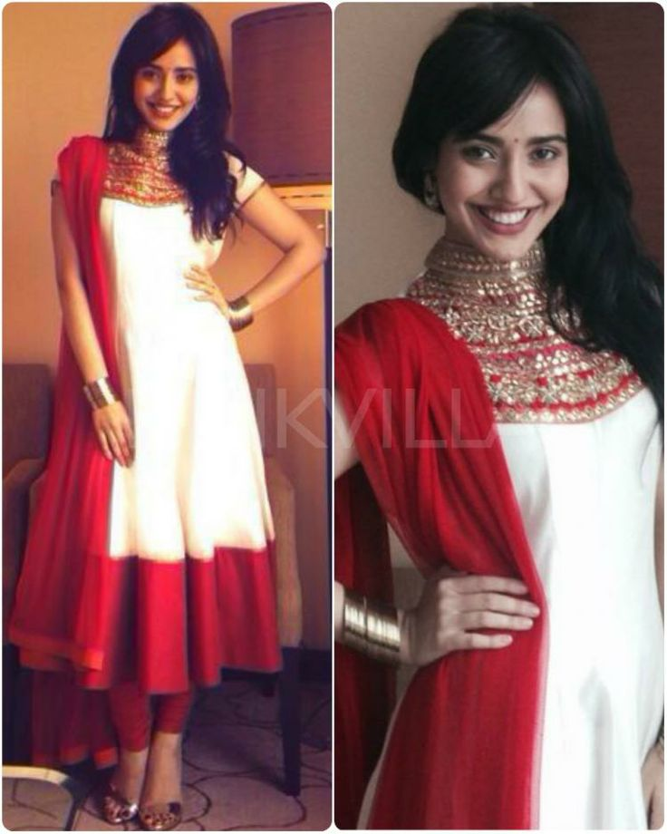 Neha Sharma in an Anarkali suit by SVA Couture https://www.facebook.com/SVACouture at the launch of a production house at JW Marriott, Jaipur 2013, via @sunjayjk