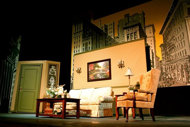 living room stage quot miracle on 34th quot theater play design unit 10549
