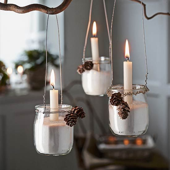 How to make jam-jar hanging lanterns http://www.housetohome.co.uk/articles/craft-rustic-hanging-lanterns_532580.html