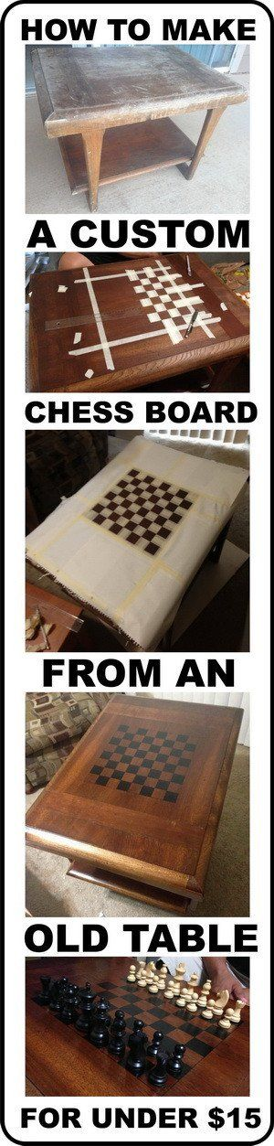 If you are an avid chess player and looking to make a custom diy chess board yourself, we have the perfect cheap solution below. By obtaining an old square table from a garage sale or from Goodwill, you can make your own for just about $15 dollars (not including the chess pieces). There are many …