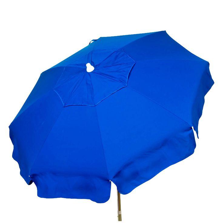 6' Italian Aluminum Collar Tilt Patio Umbrella - Parasol, Blue