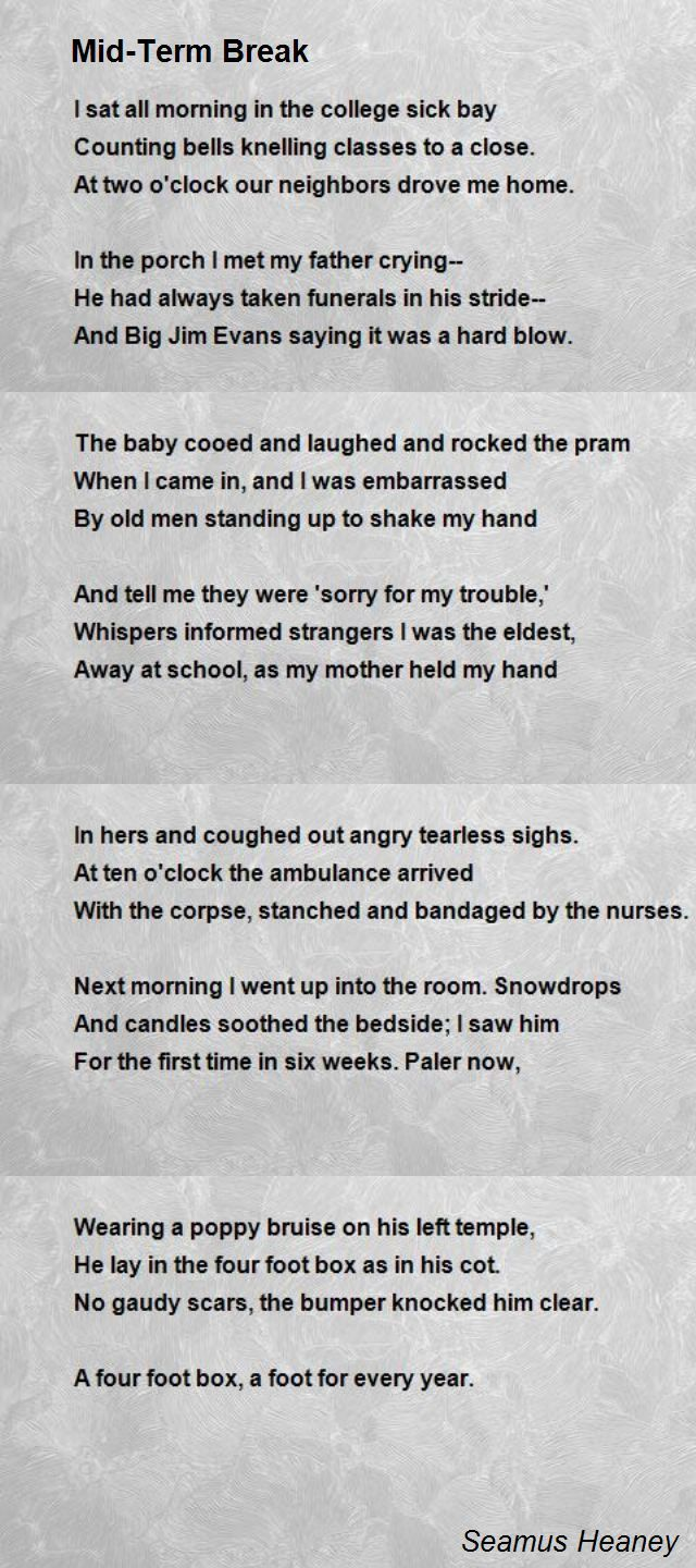 learned this in primary school, as did probably the whole country. Seamus Heaney