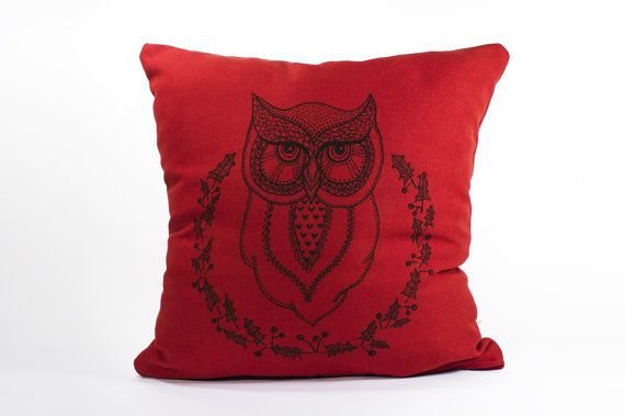 15 by 15 Hand-drawn illustration on pillow Agatha by detcraft