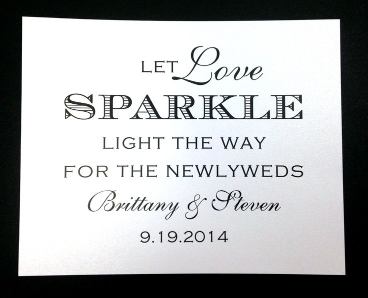 Having sparklers at your wedding? Get a sign for the box or container they will be sitting in. Available at www.paperhabit.com