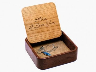 Mom, I Love You!   Terra Box - Engraving & Flip Top   Heartwood - New Bottoms made out of #sapele #wood