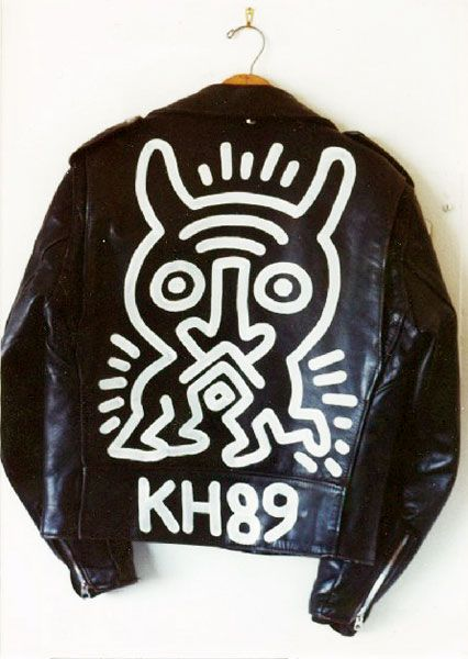 Schott Brothers Motorcycle Jacket, by Keith Haring, 1989