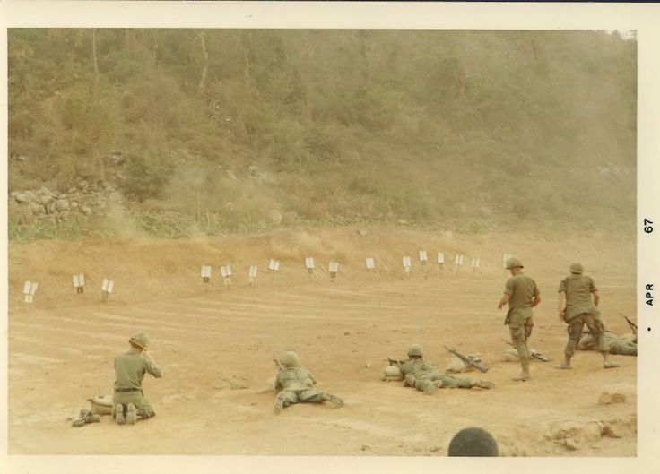 US Army firing range at the base of Black Virgin Mountain, 1967.