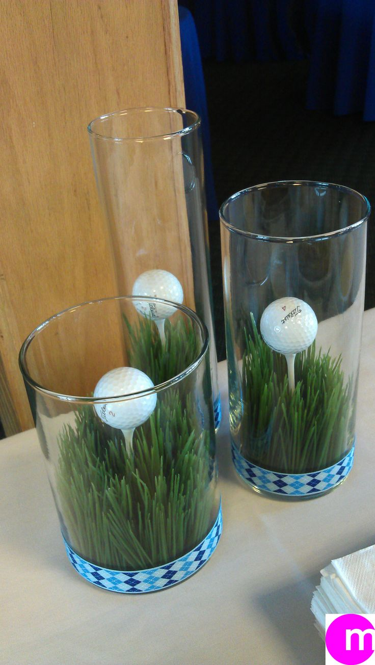 Golf theme table buffet decor centerpiece ideas for Golf centerpiece ideas