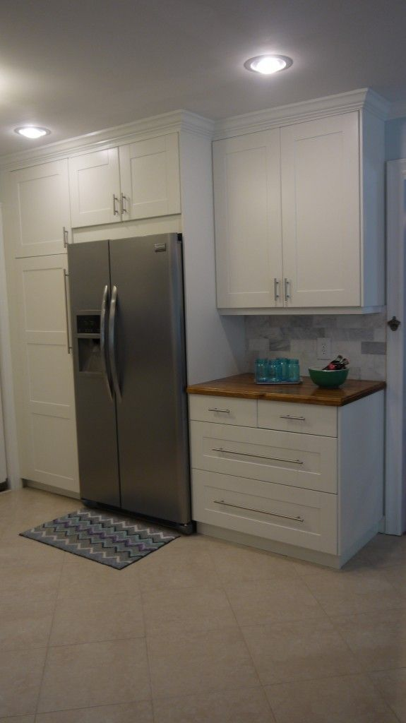 Diy Ikea Adel Kitchen with Crown Moulding