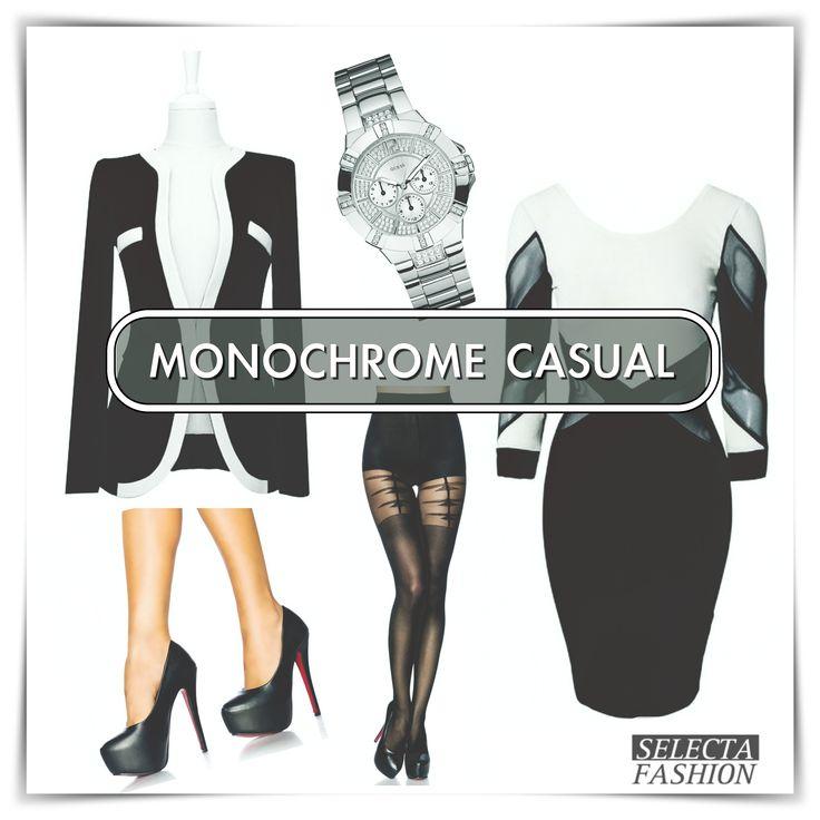 Outfity na bežný deň - Casual outfits - SELECTA FASHION MONOCHROME INšPIRáCIA