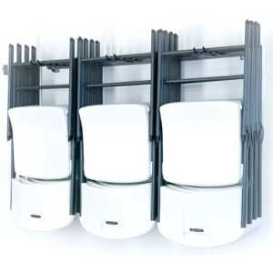 storing folding tables | folding chair storage rack garage organizaer mb 23 monkey bar storage ...