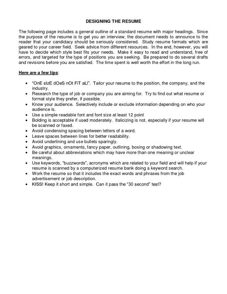 10 basic resumes examples sample resumes