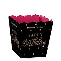 Chic Pink, Black and Gold - Happy Birthday - Birthday Party Theme | BigDotOfHappiness.com