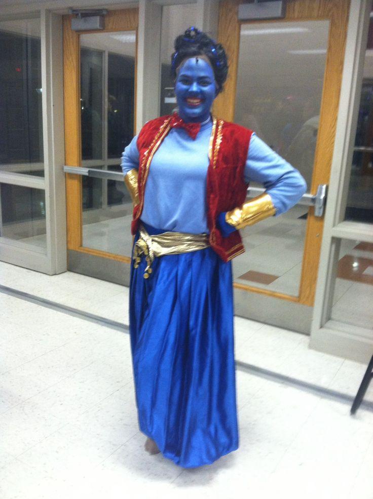 Aladdin Genie costume.  Elizabeth Mitchell as Genie