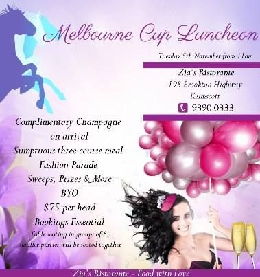 Melbourne Cup 2013!  Hope to see you :) Bookings essential :)