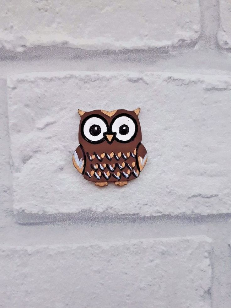 Handpainted Brown Owl - Wooden Fairy Door accessories, Fairy Door, Elf Door Gift    eBay