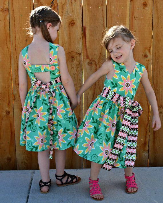 Saffron Twirl Dress PDF Pattern 6 12 Months to 8 by Zafarani