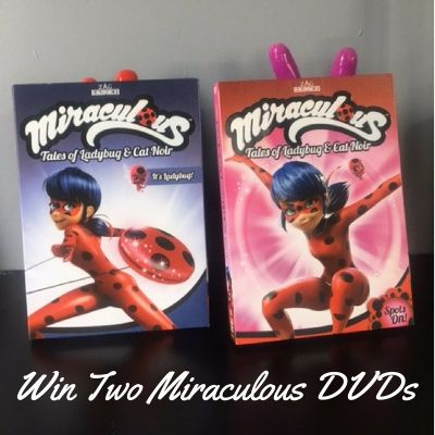 Enter to win two Miraculous: Tales of Ladybug and Cat Noir DVDs from Shout! Factory. Open to CAN&US Ends April 23 #contest #giveaway #win