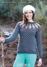 Sirdar Ladies Nordic Style Sweater Knitting Pattern 9614  DK (Sirdar-9614)