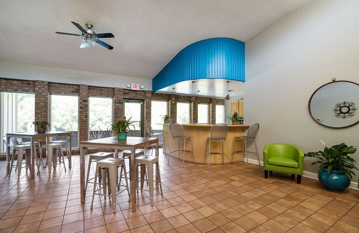Come relax in our clubhouse and maybe meet some some residents while you're there! #MarylandHeights #Missouri #Apartments