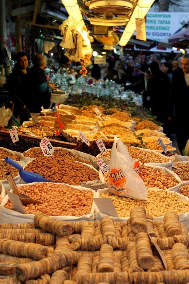 A Food Market in Bursa Province, Marmara Region, North West Anatolia, Turkiye
