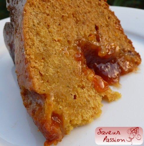 Gâteau au miel fourré orange comme une nonnette
