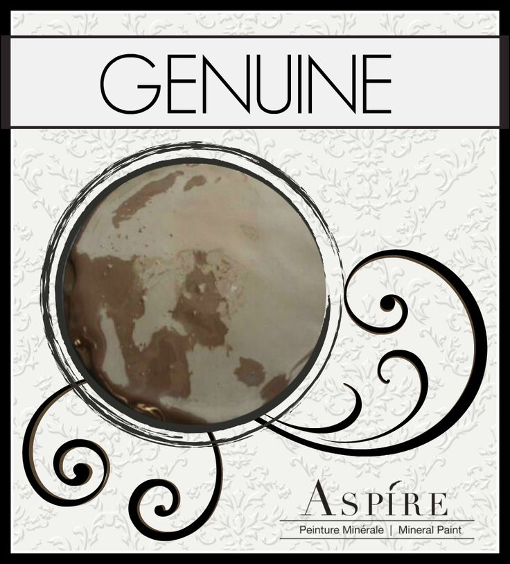 "This is Aspire Mineral Chalk Paint in ""Genuine"". Resembles a rich dark chocolate brown."