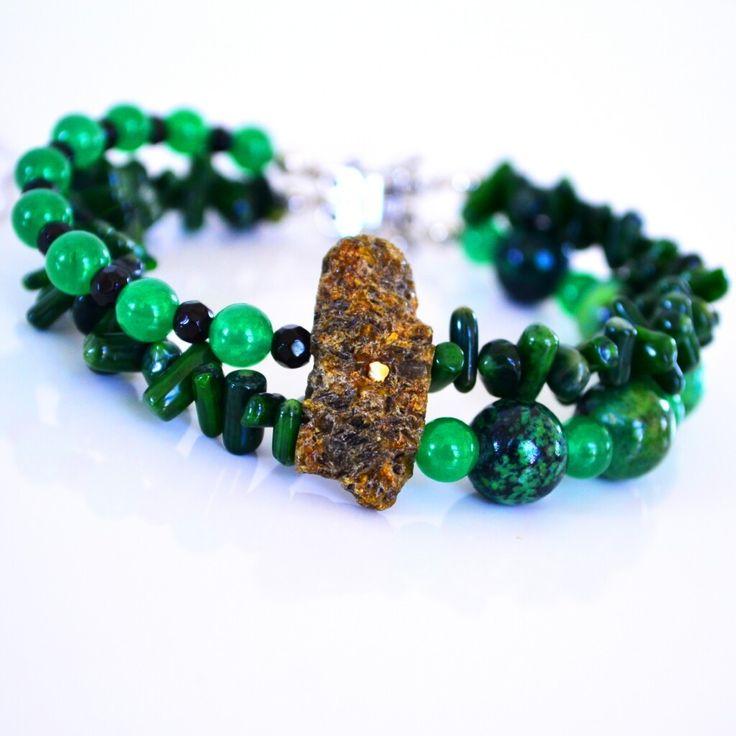 Hannah Chrysoprase & Coral  Bracelet