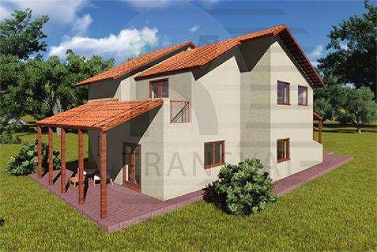 Casa de lemn Toscana - modele case de lemn Casa in legno Toscana - modelli case in legno Toscana wooden house project Maison en bois Toscana www.transval.ro
