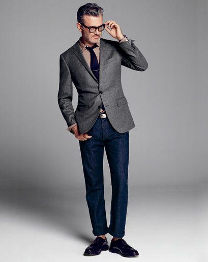 Modern suiting - jeans sports coat business casual 2013   Biz Casual   Pinterest   Grey Menu0026#39;s ...