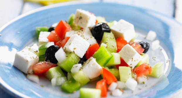Salade grecqueVoir la recette >>