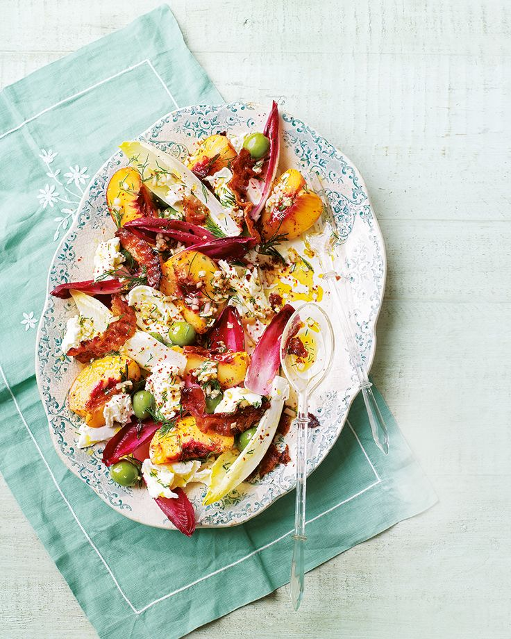 If you haven't tried peaches in a savoury dish yet, this is a good place to start – combine their ripe sweetness with salty pancetta and creamy mozzarella to make a light supper.