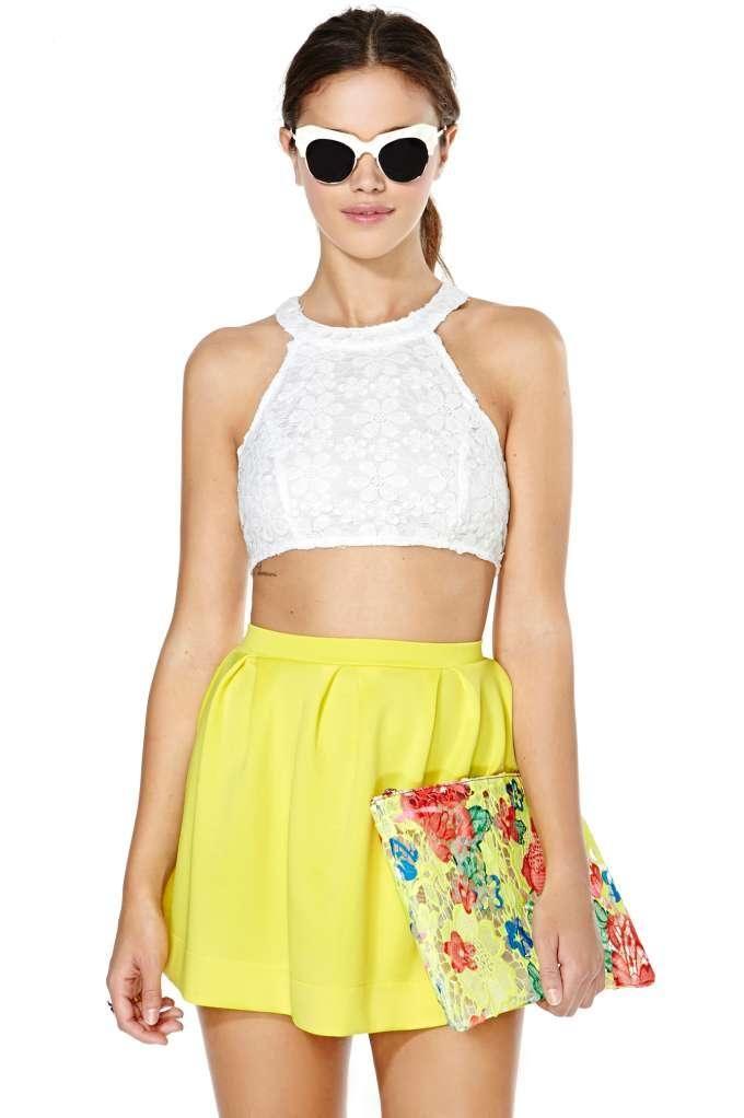 Scuba Skater Skirt - Yellow