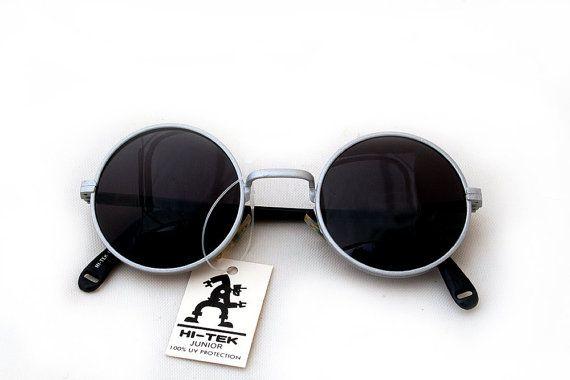Привет Tek круглые серебряные очки с черными линзами Джон Леннон стиль HJL9 поляризованные линзы   Привет Tek Webstore
