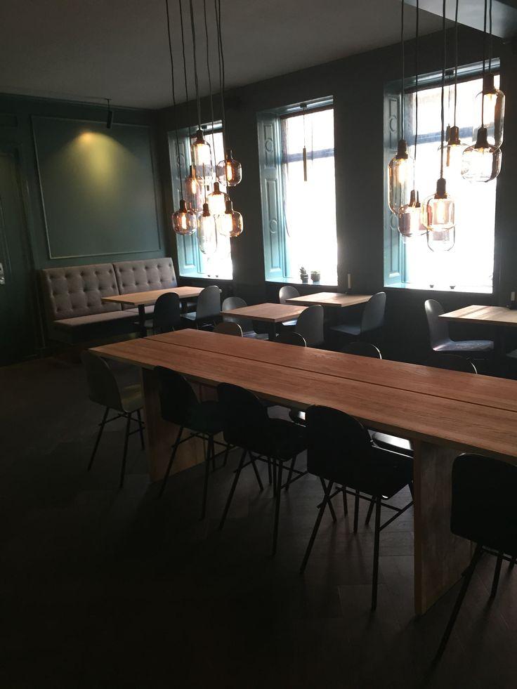 Handmade tables to a Sushi restaurant in Hatoba, Copenhagen.  http://www.kjeldtoft.com/