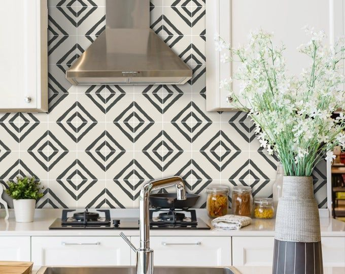 Kitchen And Bathroom Splashback Removable Vinyl Wallpaper Hexa Black Peel Stick Vinyl Wallpaper Sophisticated Tile Bathroom Splashback