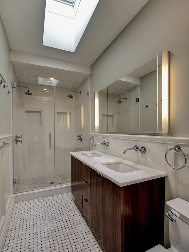 Serene Bathroom With Double Vanity : Designers' Portfolio : HGTV - Home & Garden Television