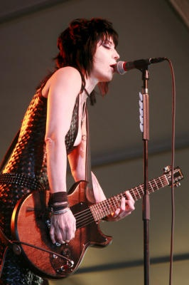 Joan Jett and her band the Blackhearts headline the Marin County Fair in San Rafael, Calif. on Monday, July 2, 2012.